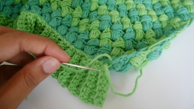 a puff stitch crochet hat1