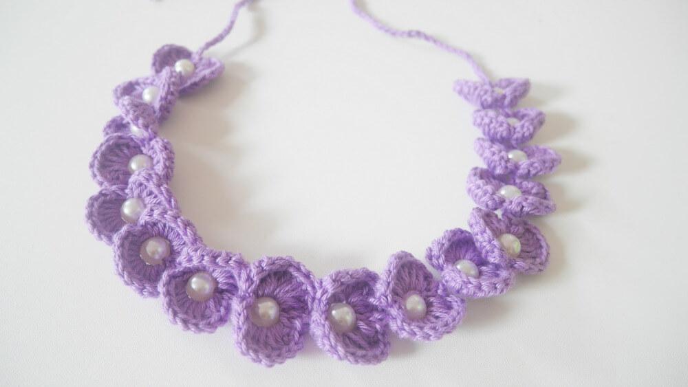 aacrochet scallop beaded headband free pattern