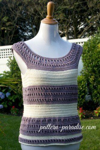 garden tanks top free crochet pattern