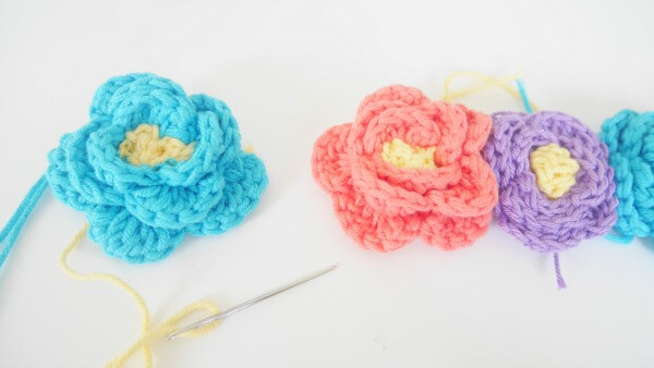 how to crochet flowers crown