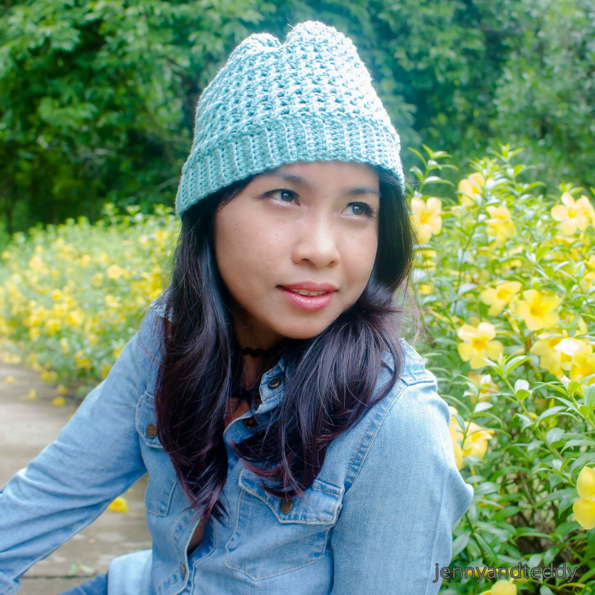 how to make criss cross beanie crochet hat free pattern