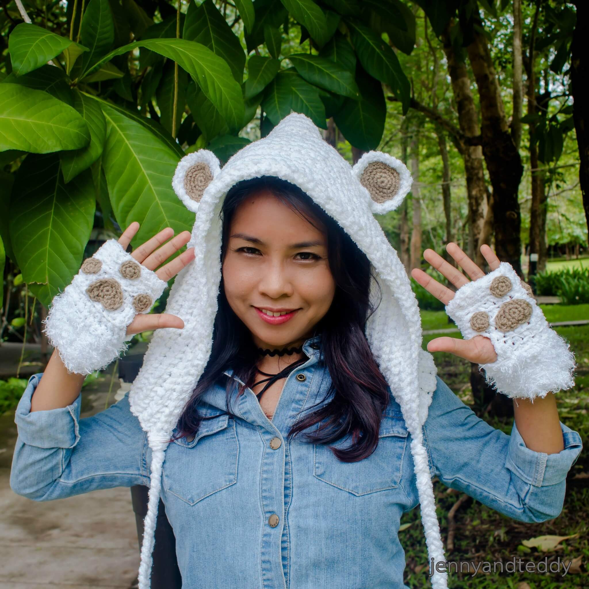 how to make crochet teddy bear hoodie hat free pattern tutorial