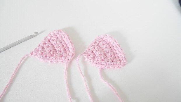 inner cat ear free crochet pattern