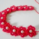 marybeth crochet beaded headband for beginner