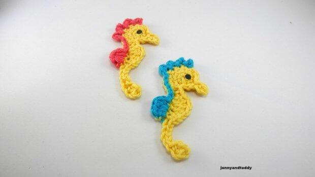 an easy seahorse applique crochet tutorial