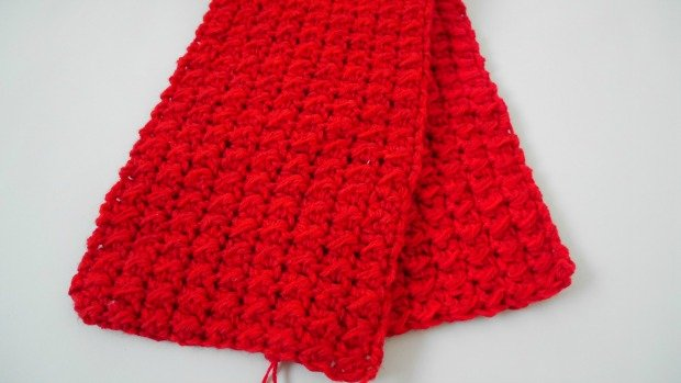 1crochet pocket long scarf