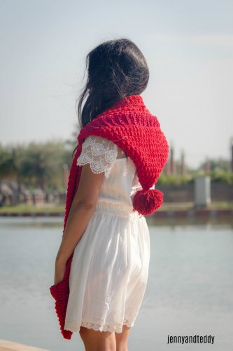 1free crochet pattern long hoodie pocket scarf