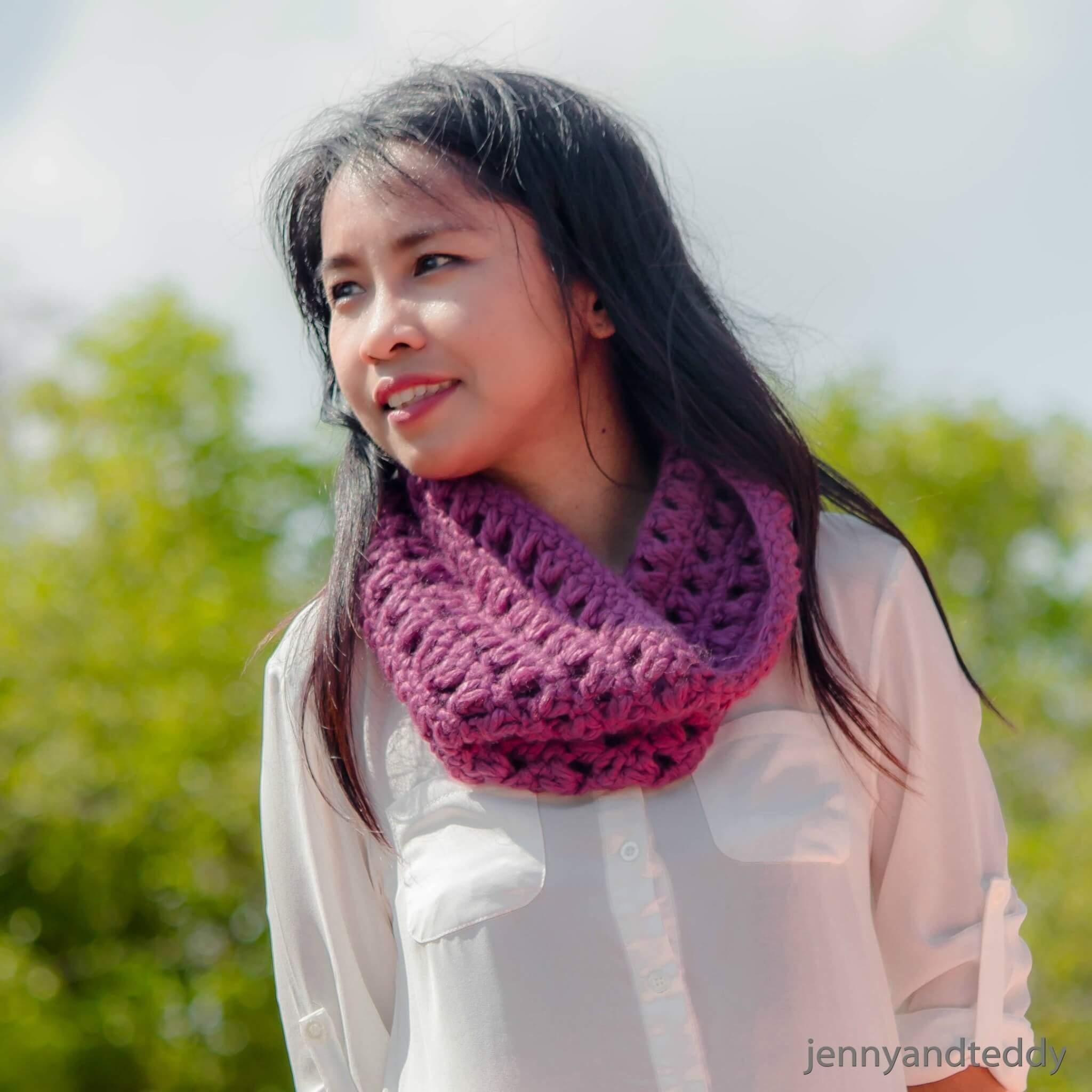 1 skein quick cowl free crochet pattern