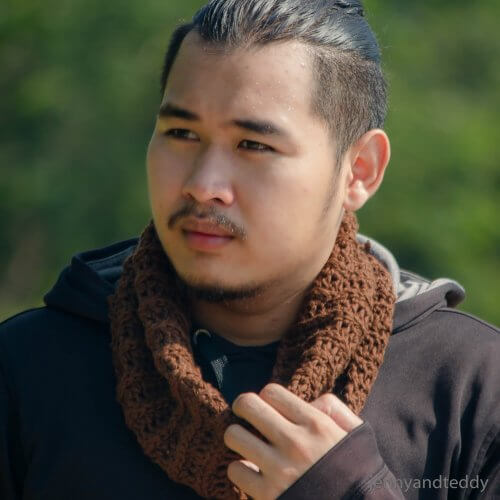 beginner neck warmer cowl for men free pattern