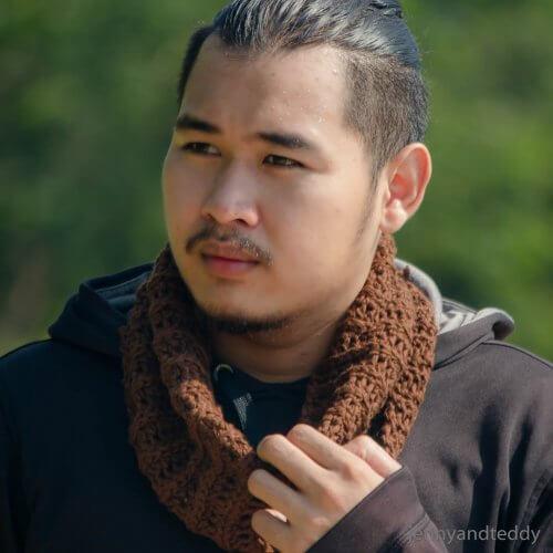 beginner neck warmer cowl for men free pattern