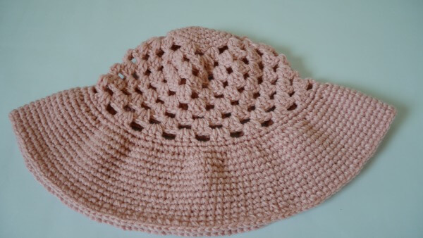 beginner wide brim sun hat free pattern crochet