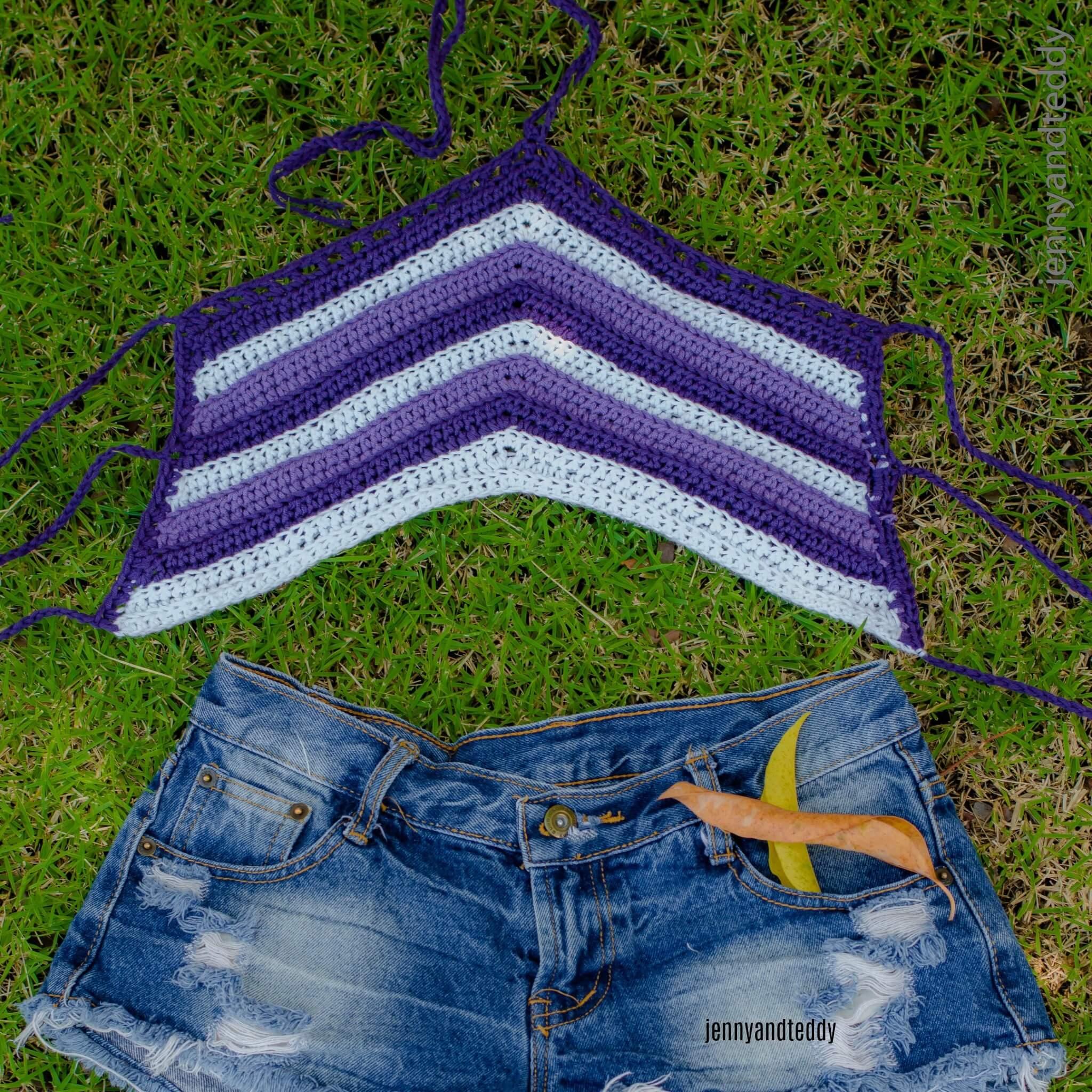 easy crochet halter crrop top free crochet pattern