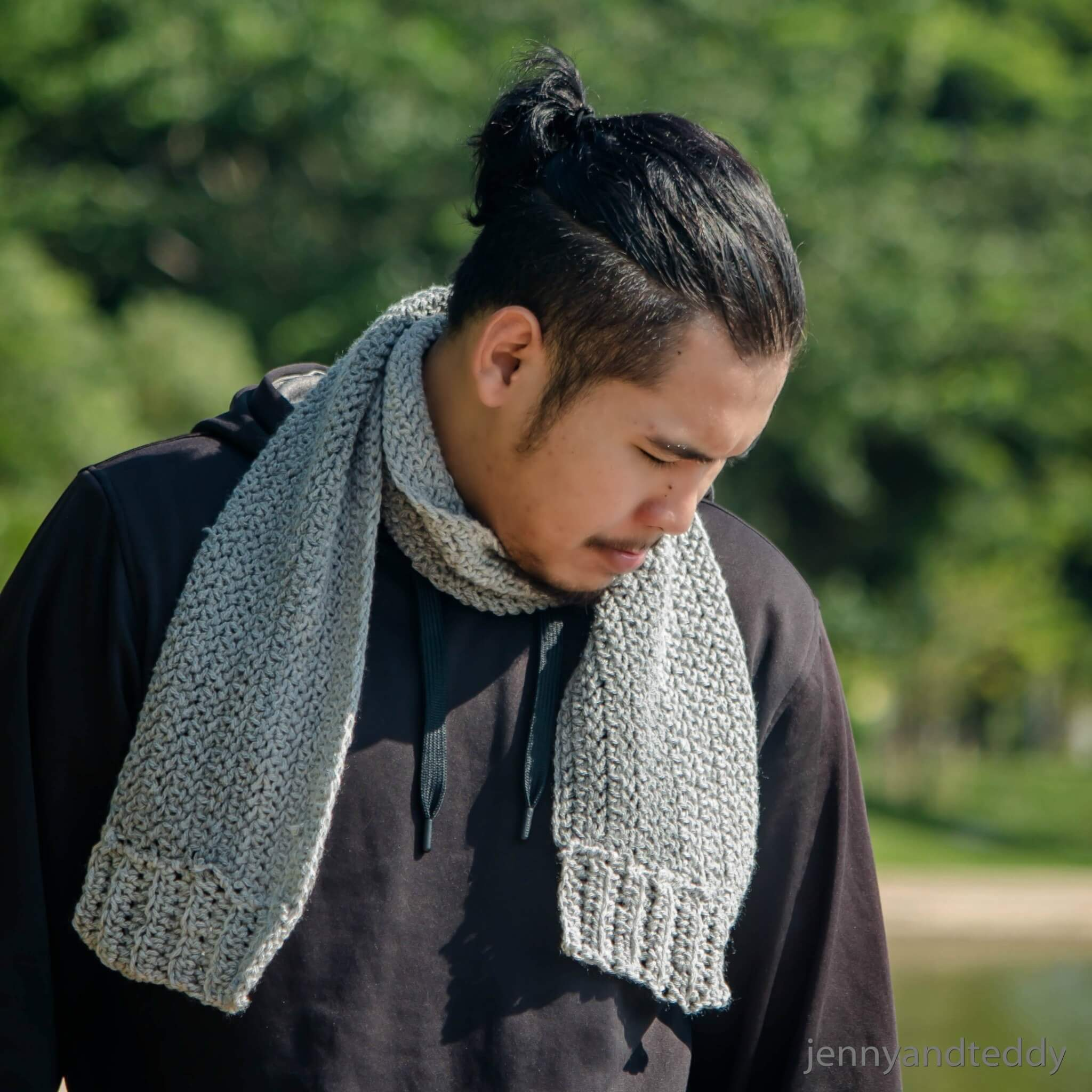 The Wilton Gray Men Scarf Free Crochet Pattern