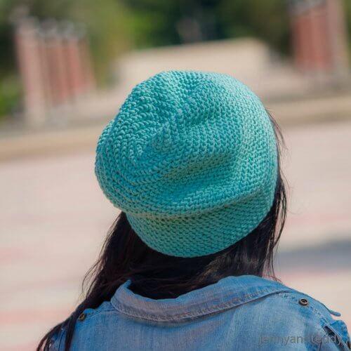easy free crochet slouch hat pattern emily bbeanie
