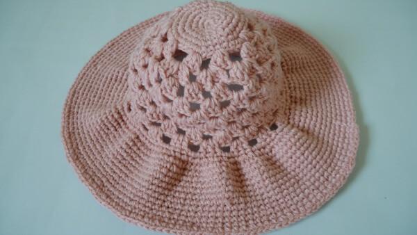easy wide brim crochet sun hat