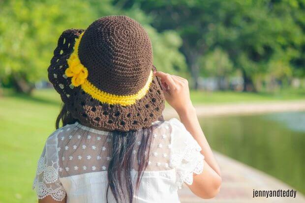 free crochet pattern sun hat with wide brim easy free tutorial