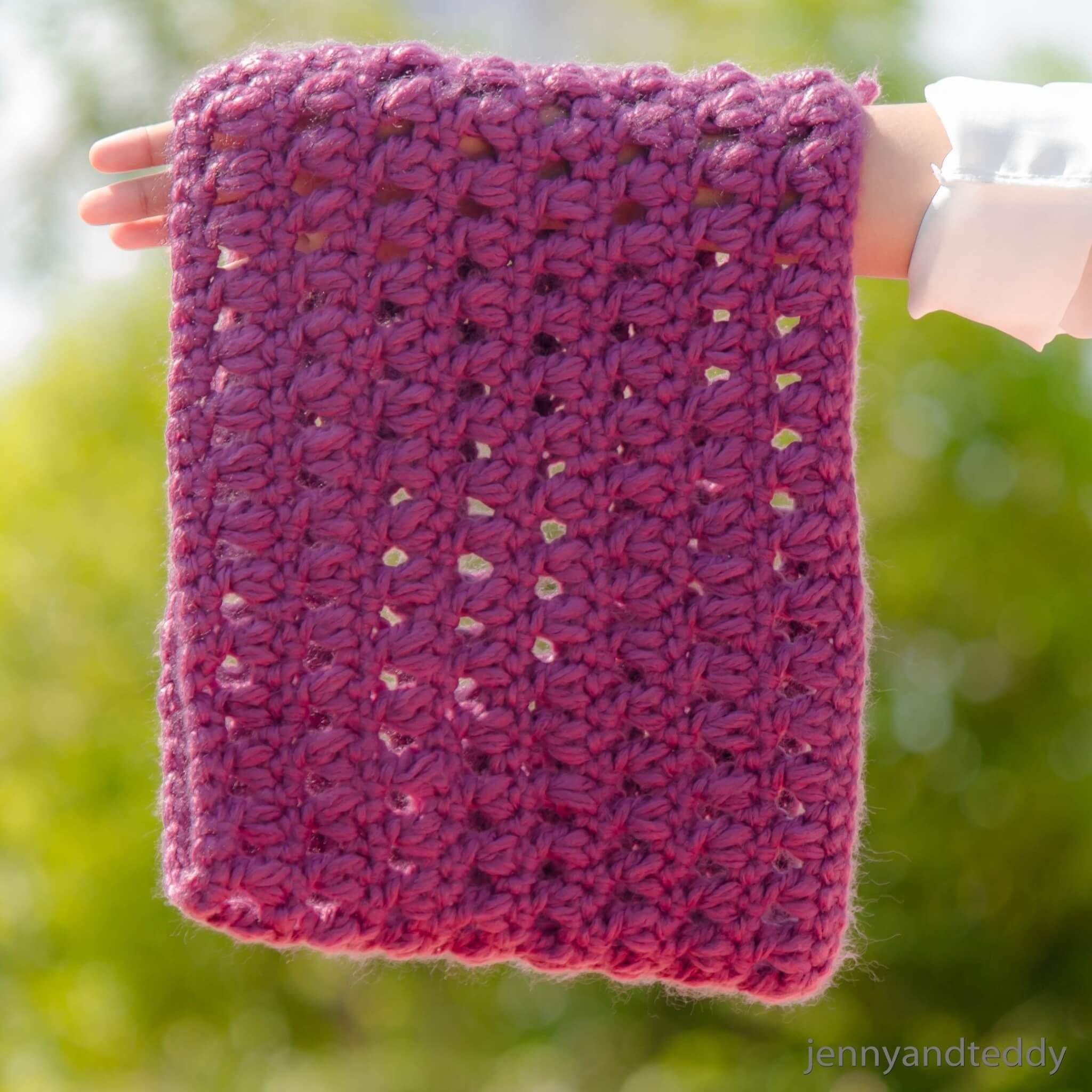purple delight crochet cowl free pattern