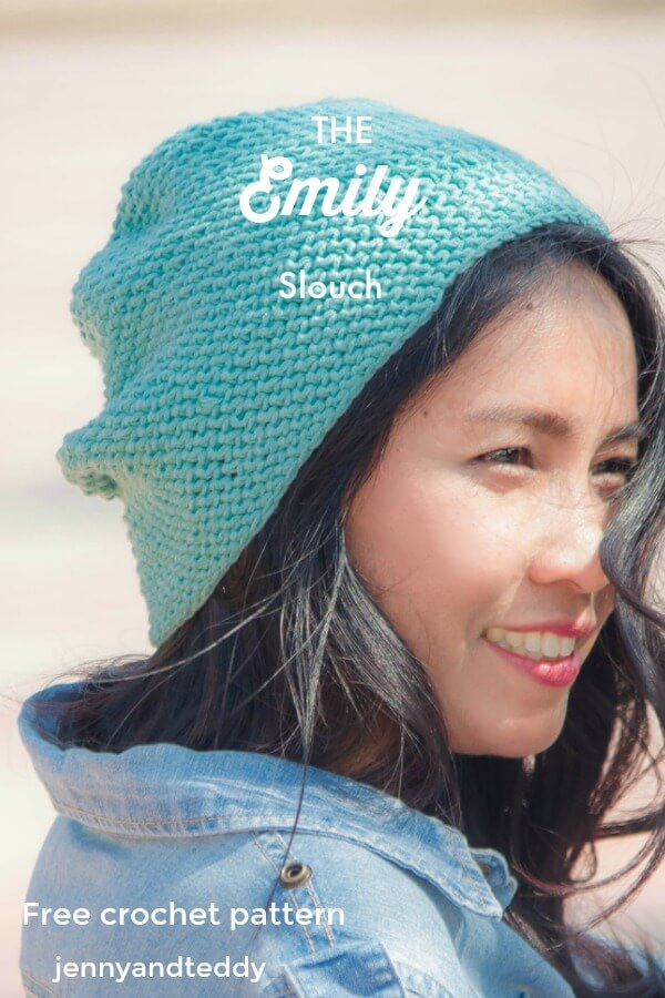 the emily slouch free crochet patternbeginner friendlyy by jennyandteddy