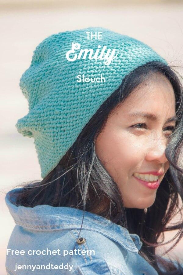 the emily slouch free crochet patternbeginner friendlyy by jennyandteddy