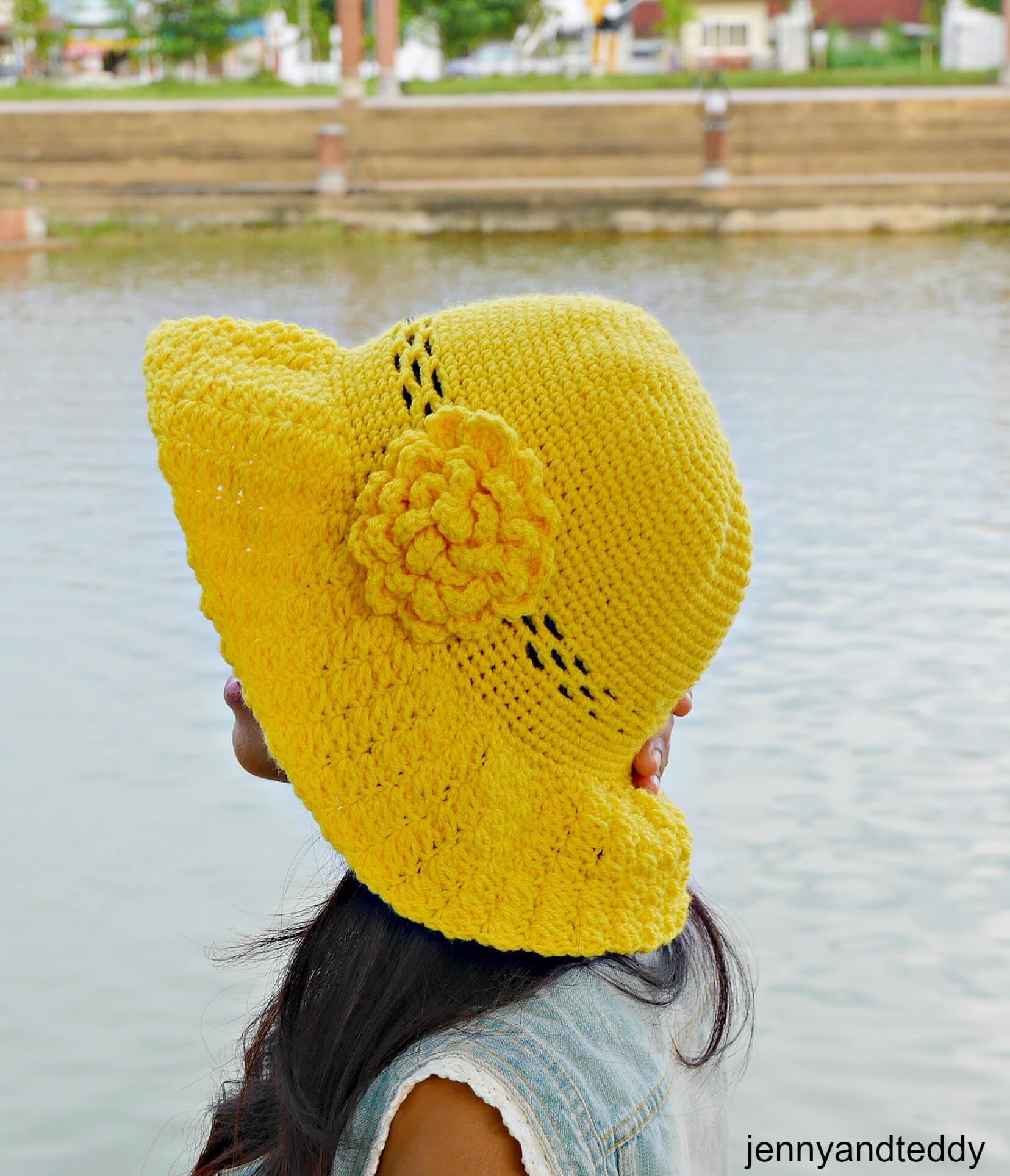 Secret Garden Wide Brim Sun Hat Free Crochet Pattern