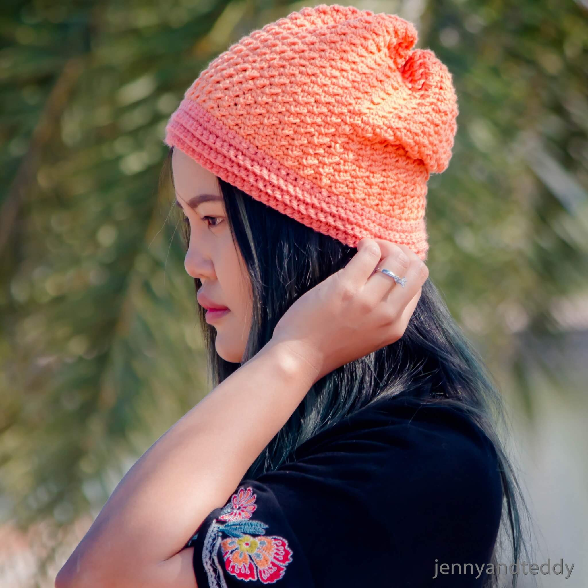 1abigail beanie hat free crochet pattern tutorial