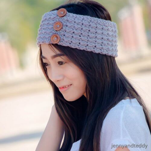 1atlantic easy beginner crochet headband free pattern