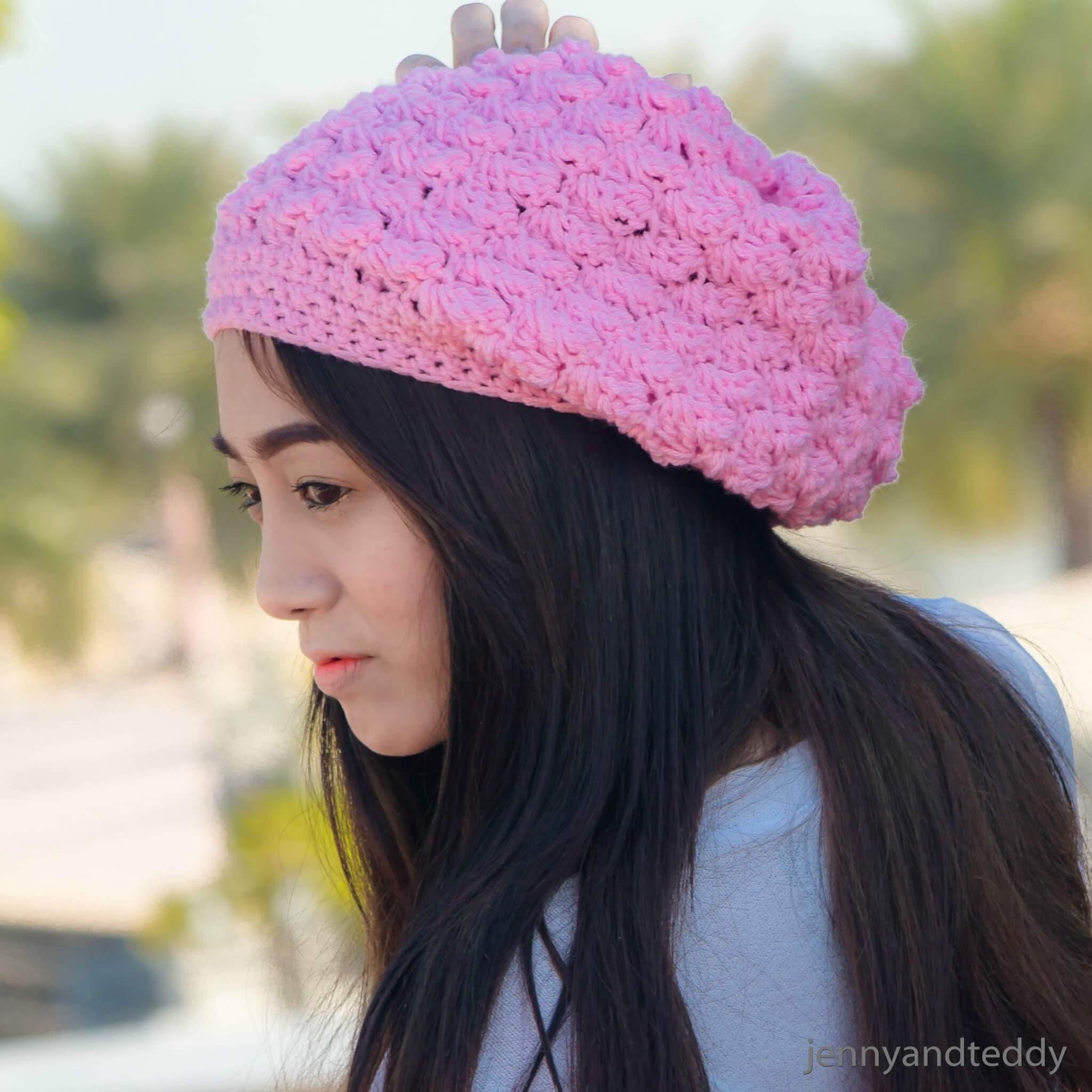 6sweet berry crochet slouchy beanie hats free patern