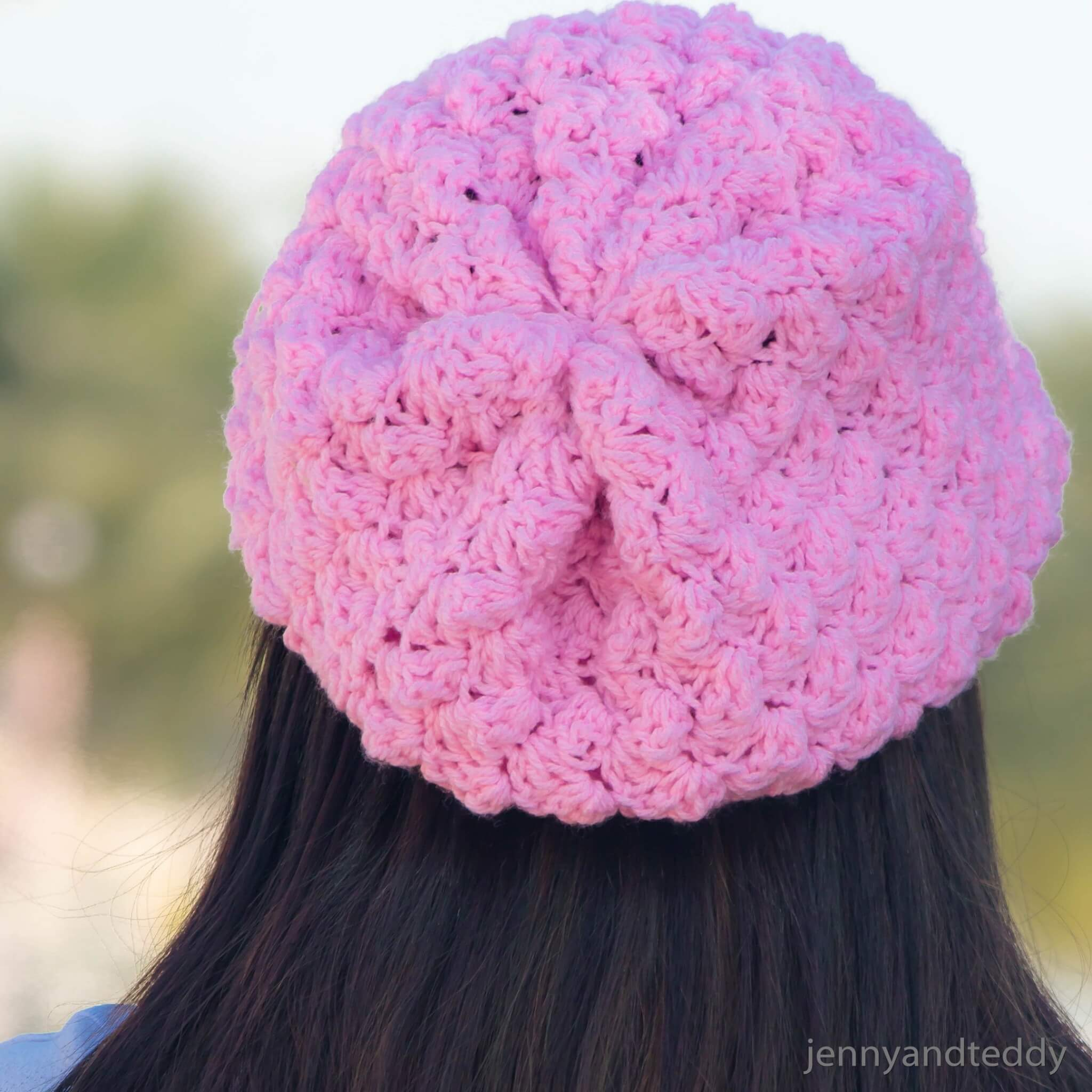 7easy slouchy beanie crochet hat free pattern sweetberry