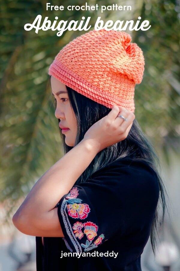 abigail beanie hat free crochet pattern