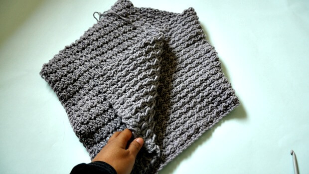 beginner chunky quick button up cowl tutoral