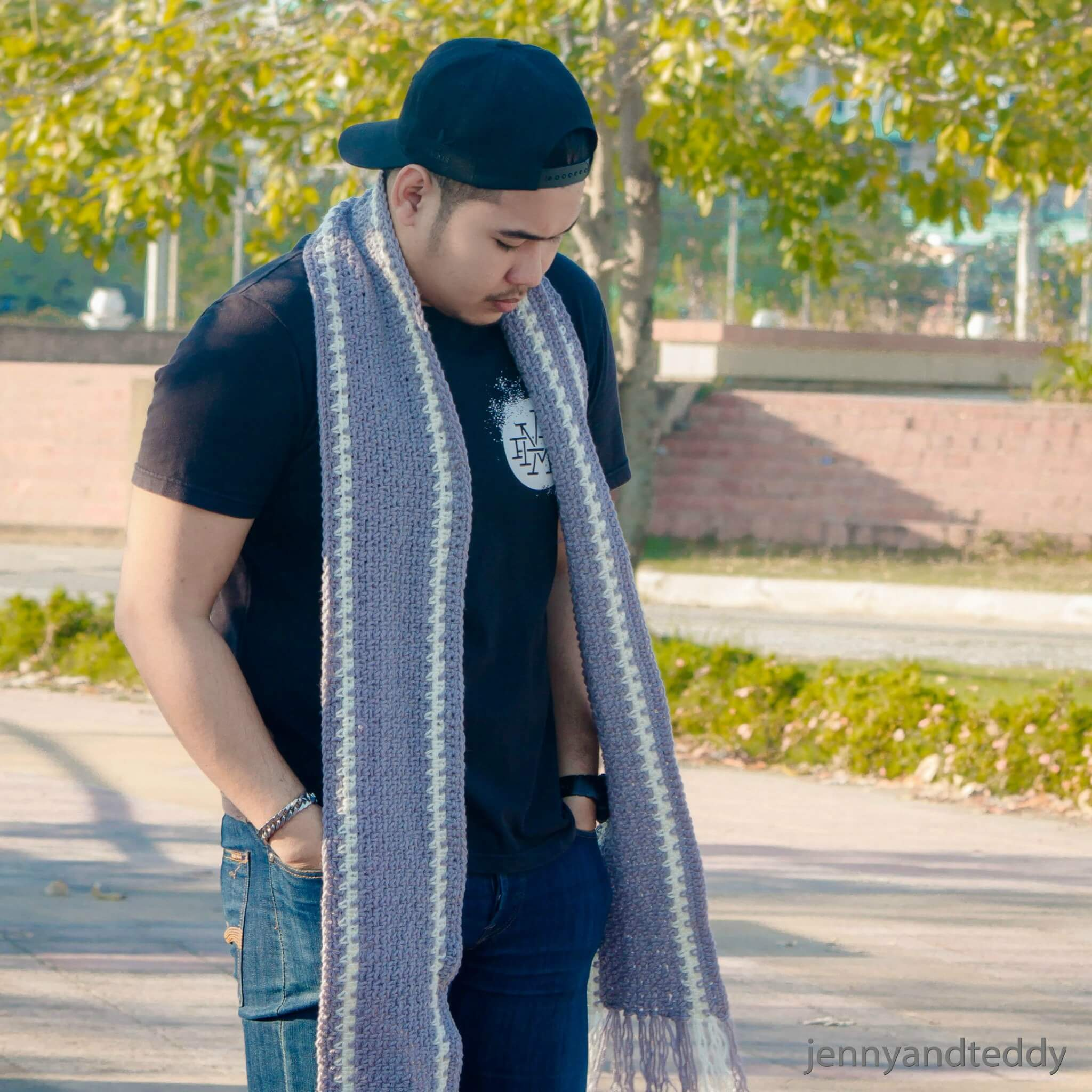 crochet men scarf norton easy beginner tutorial