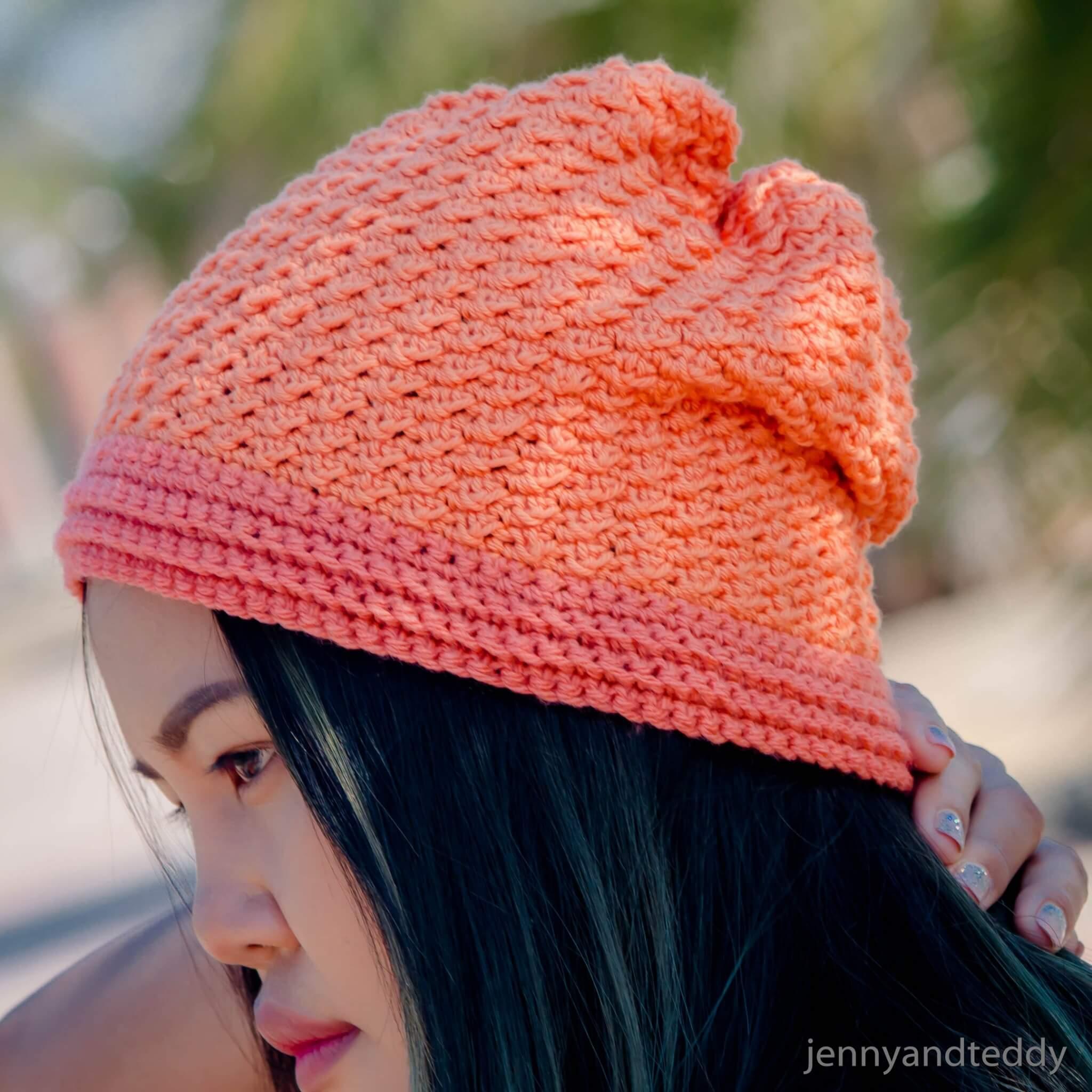easy crochet beanie for beginner abigail free pattern