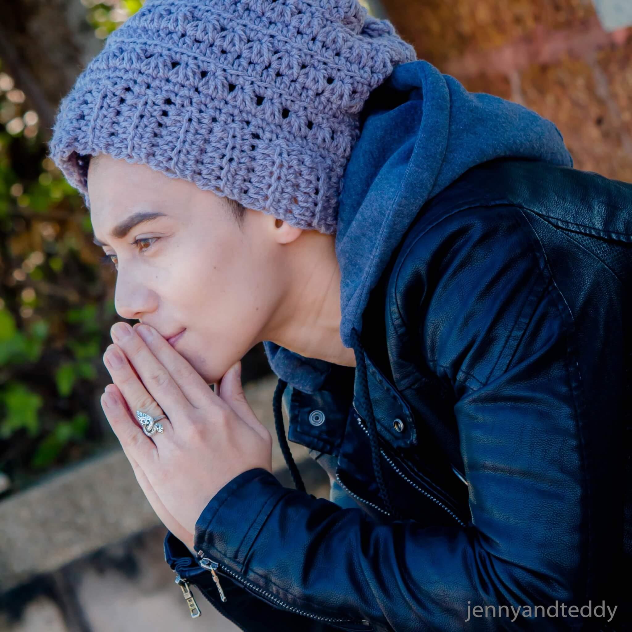 easy men crochet beanie hat with video tutorial free crochet pattern3
