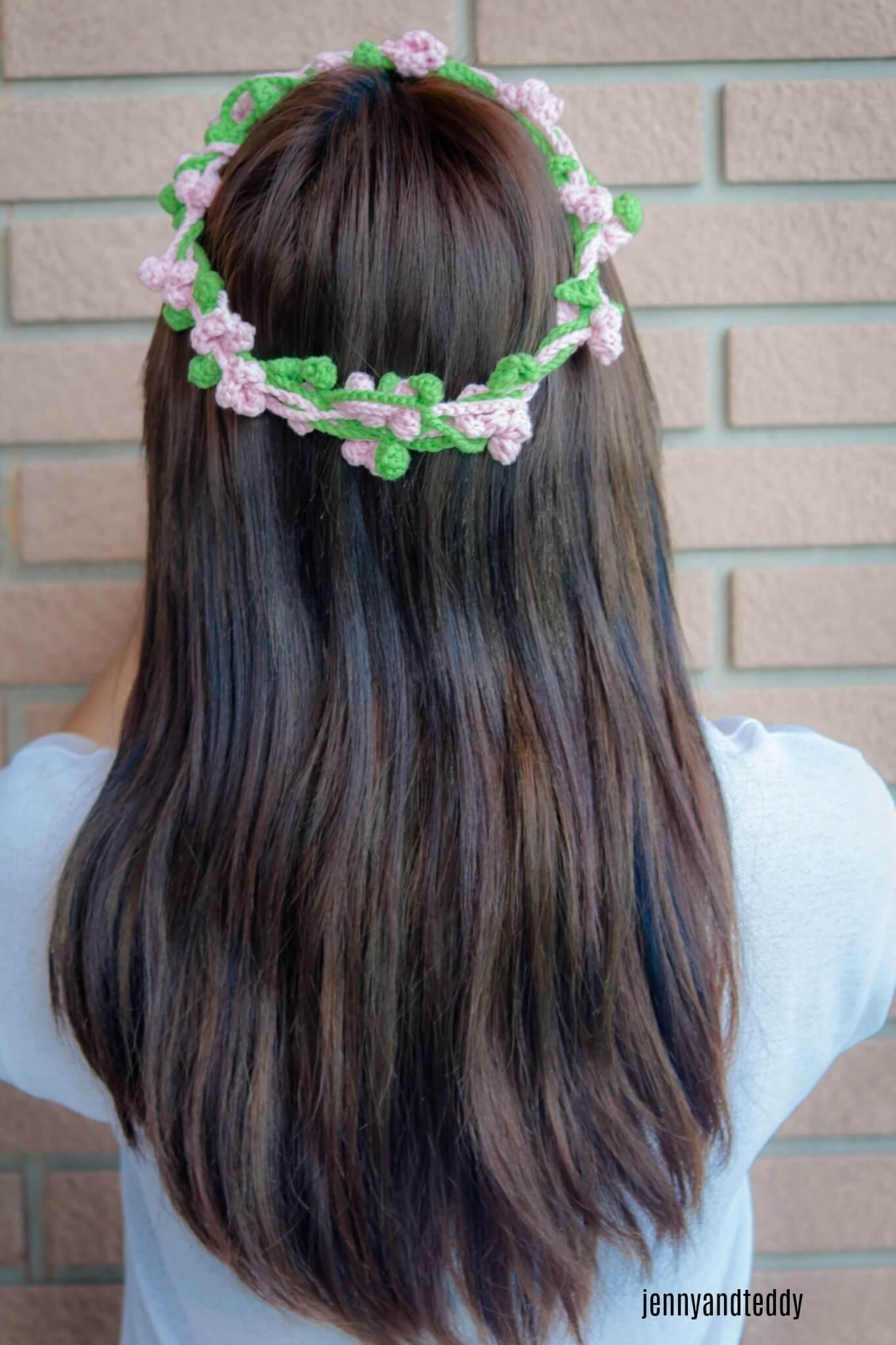 flowers crown crochet easy tutorial