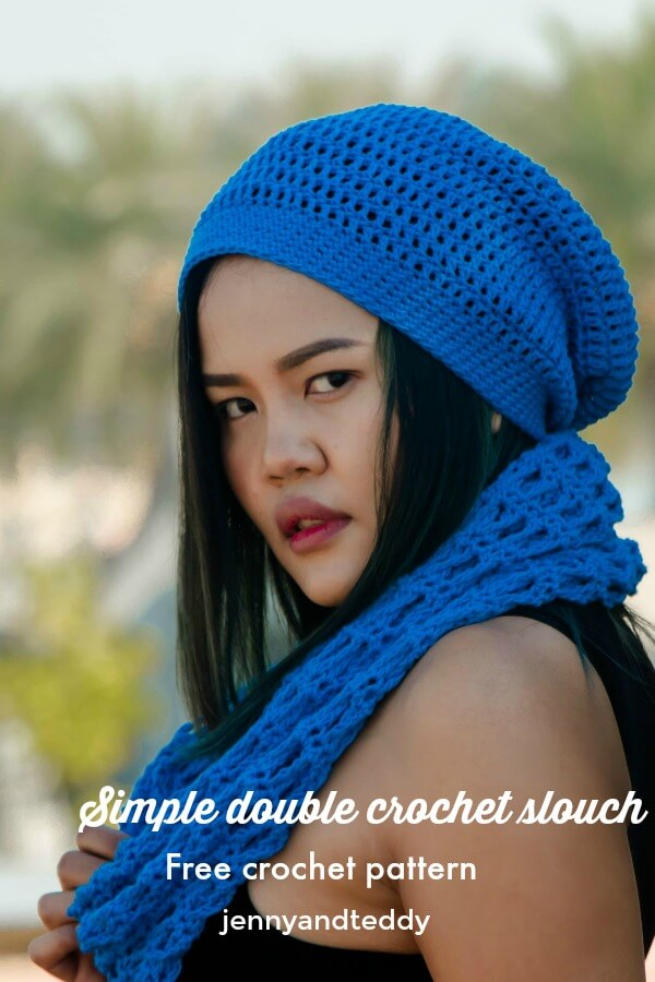 simple double crochet slouch hat free pattern 117e5c133