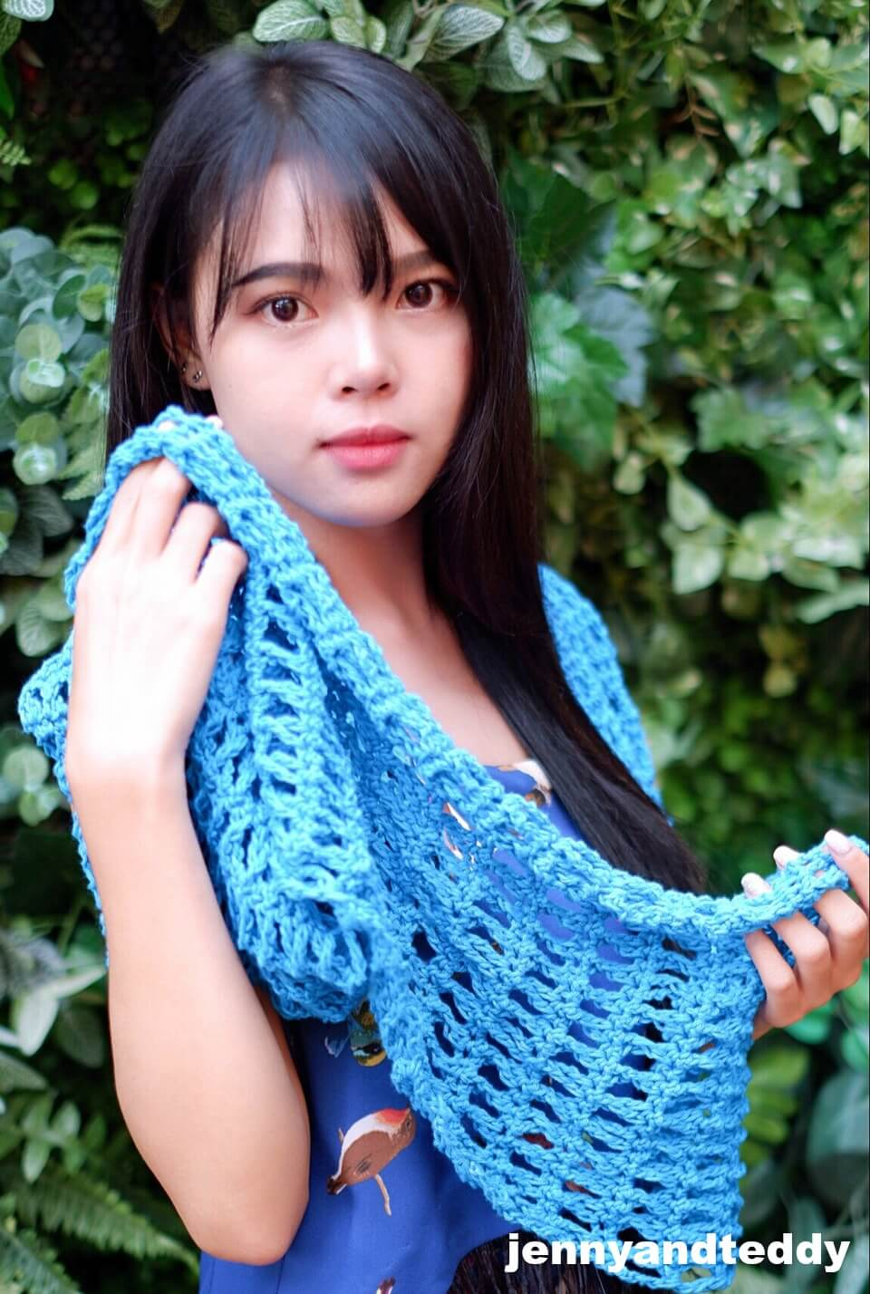 Hellow summer breezy crochet cowl free pattern and tutorail beginner friendly by jennyandteddy