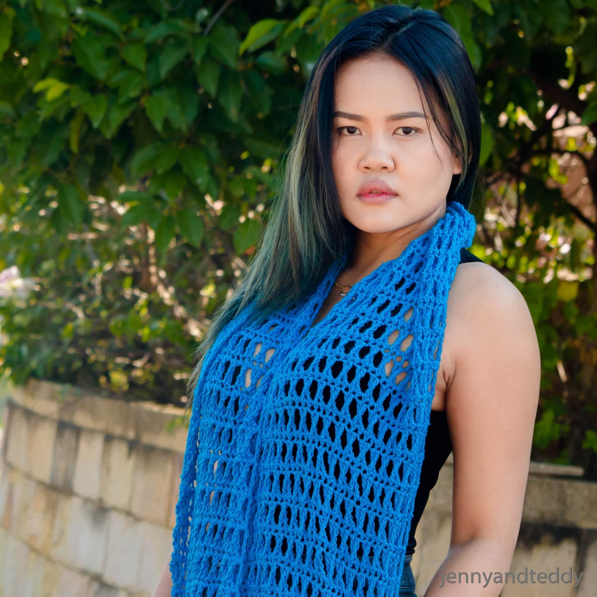 criss cross triple crochet cowl spring cowl lace