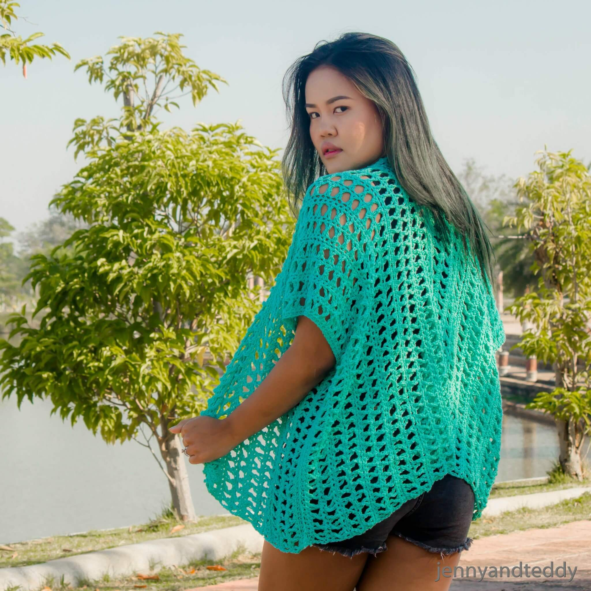 easy beginner crochet kimono cardigan free pattern