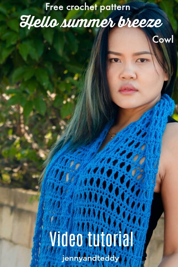 hello summer breeze cowl free crochet pattern spring with video tutorial by jennyandteddy