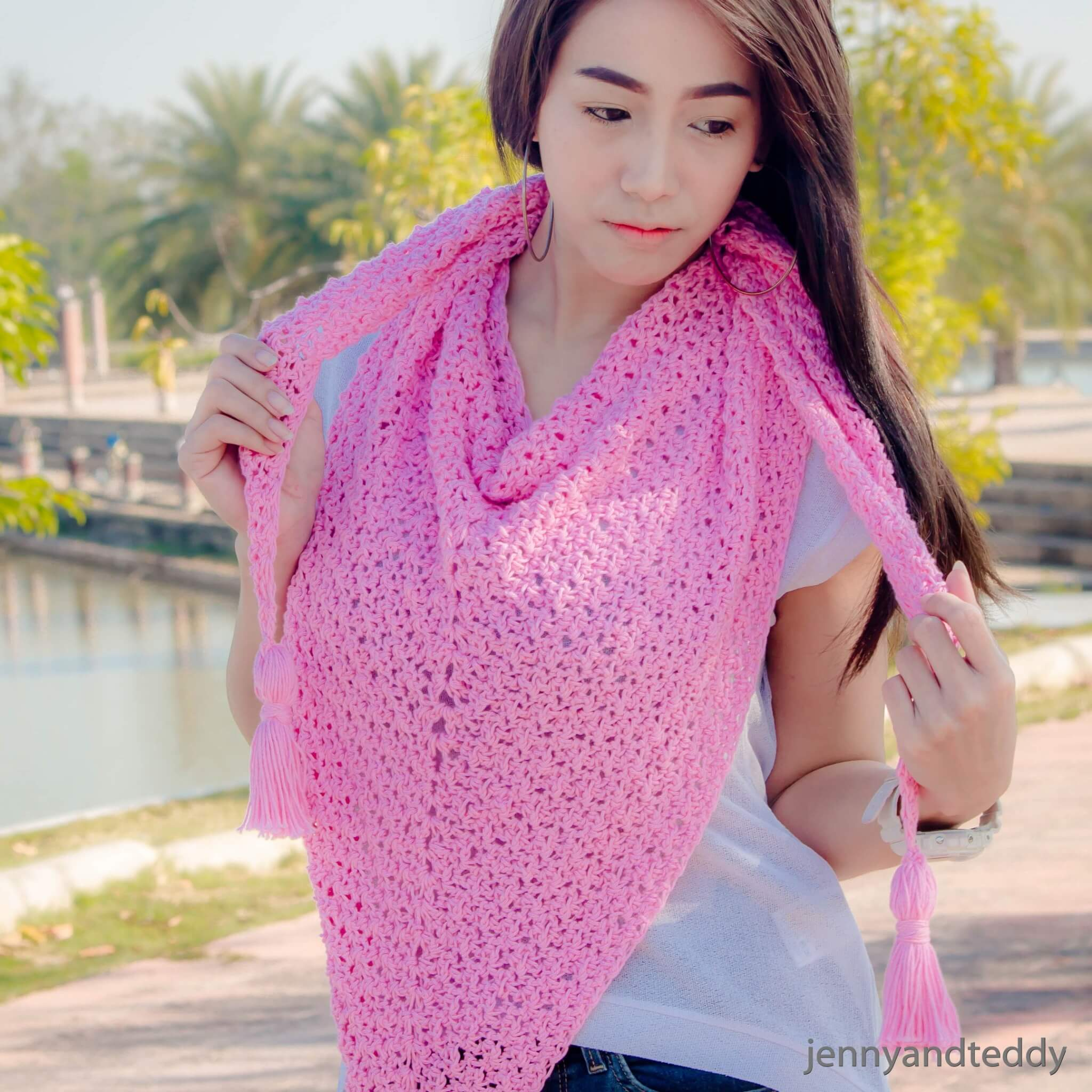 the weekend shawl free crochet pattern1