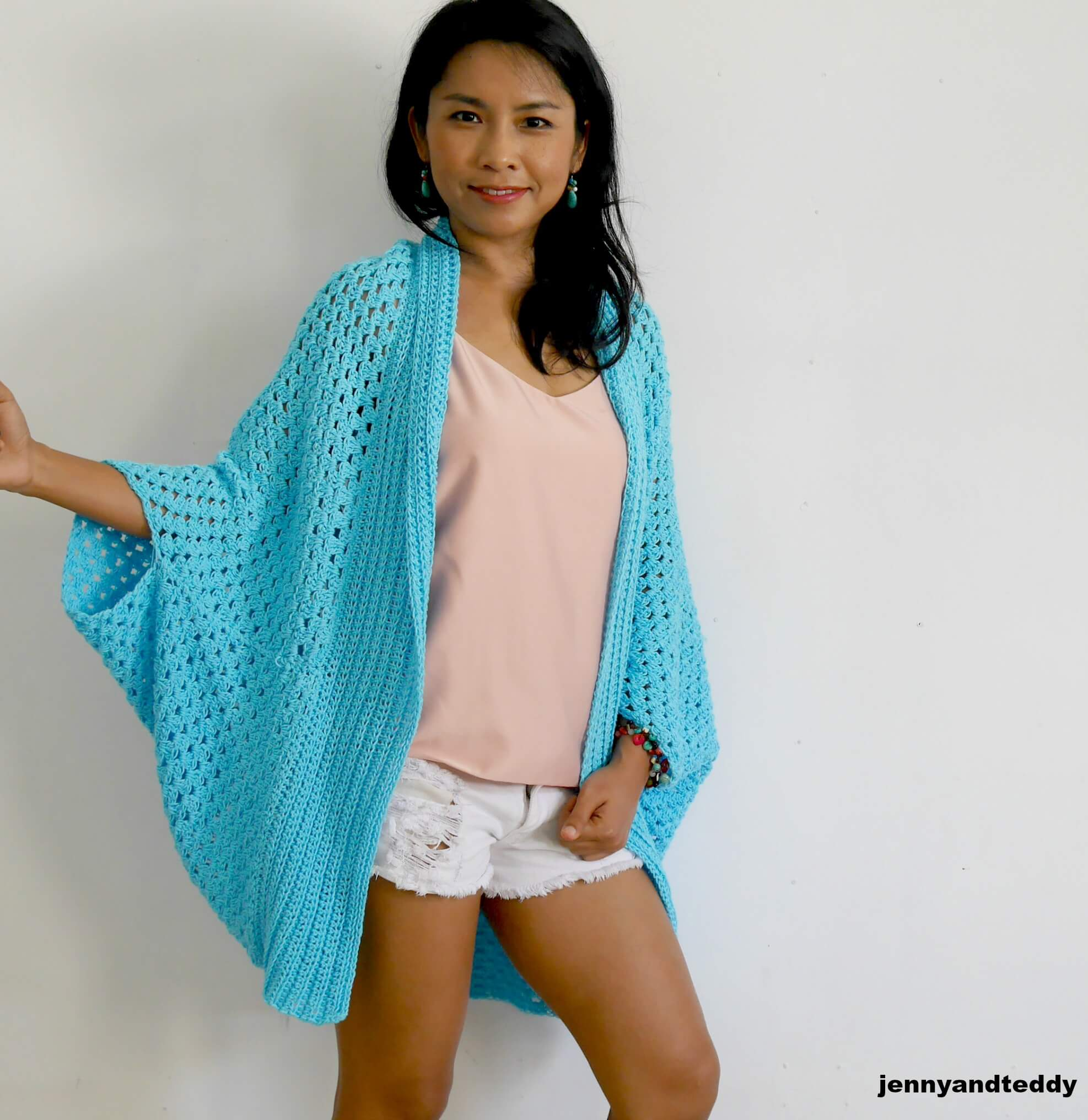 beginner crochet rectangle cardigan free pattern