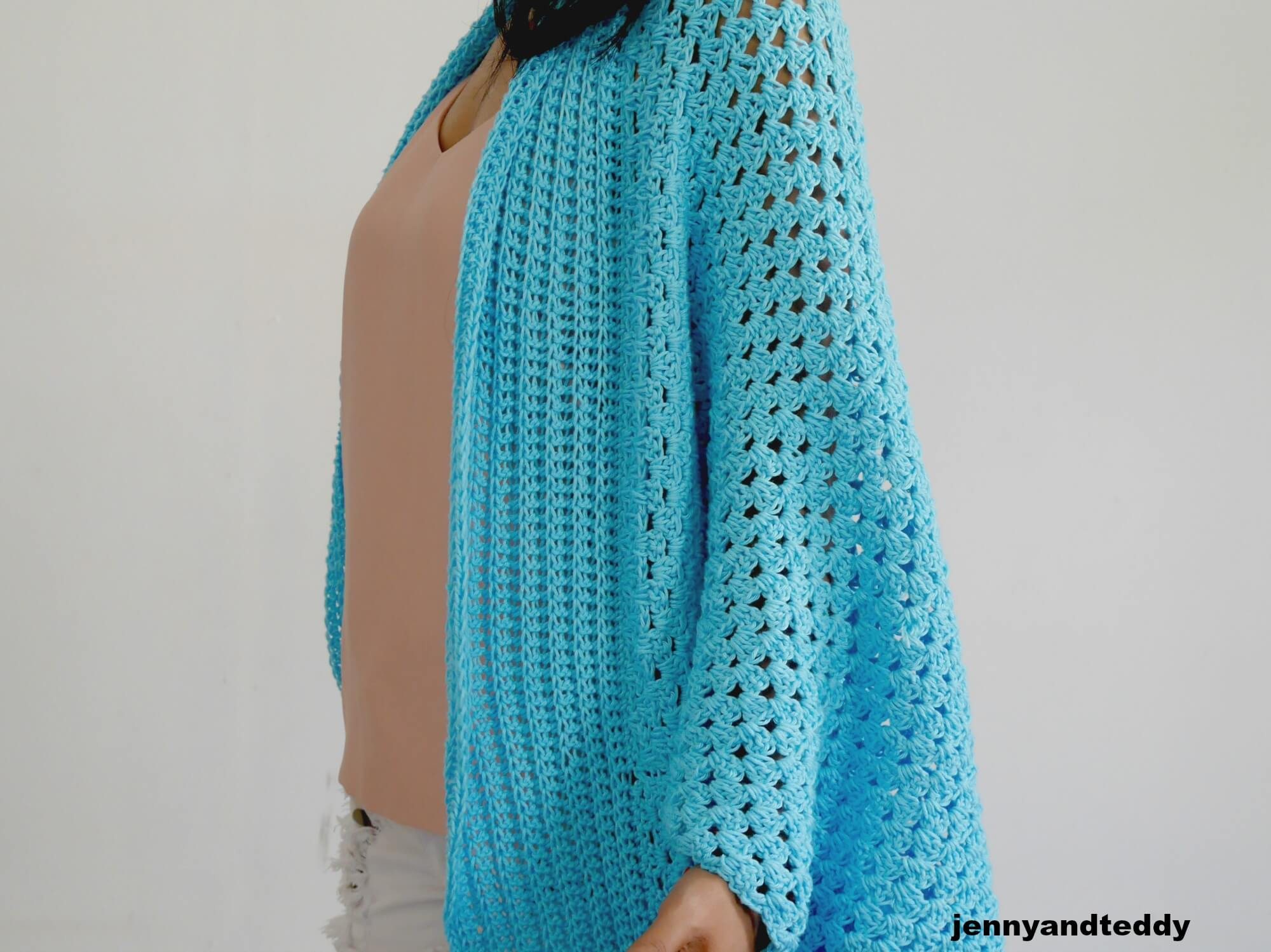 beginner crochet cardigan free patern cotton yarn