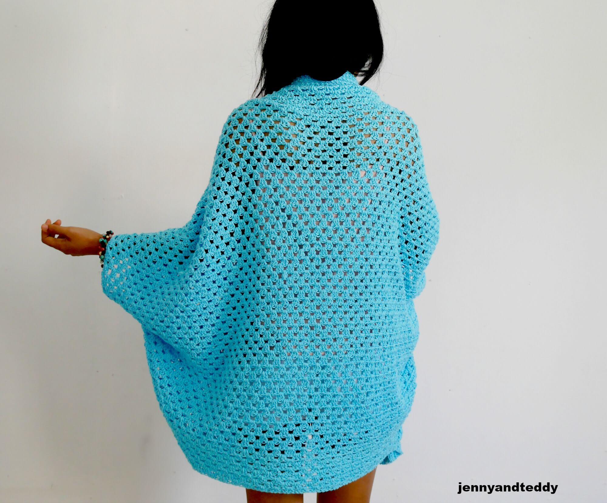 granny square crochet stitch cardigan for beginner