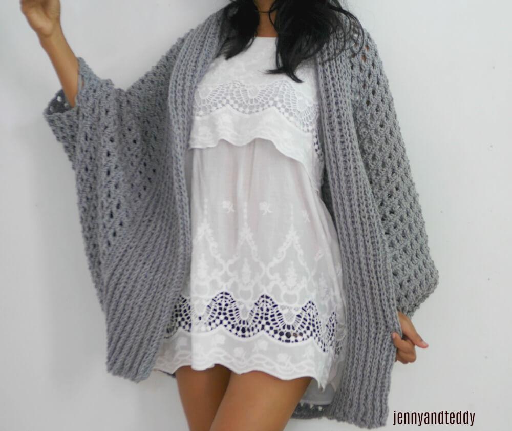 Pretty Me Oversize Chunky Cardigan Free Crochet Pattern
