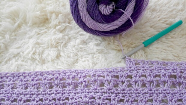 1beginner crochet v stitch