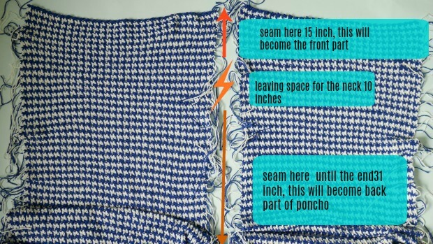 boho chic crochet poncho easu tutorial made from 2 rectangle