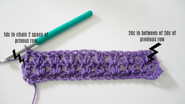crochet v stitch tutorial