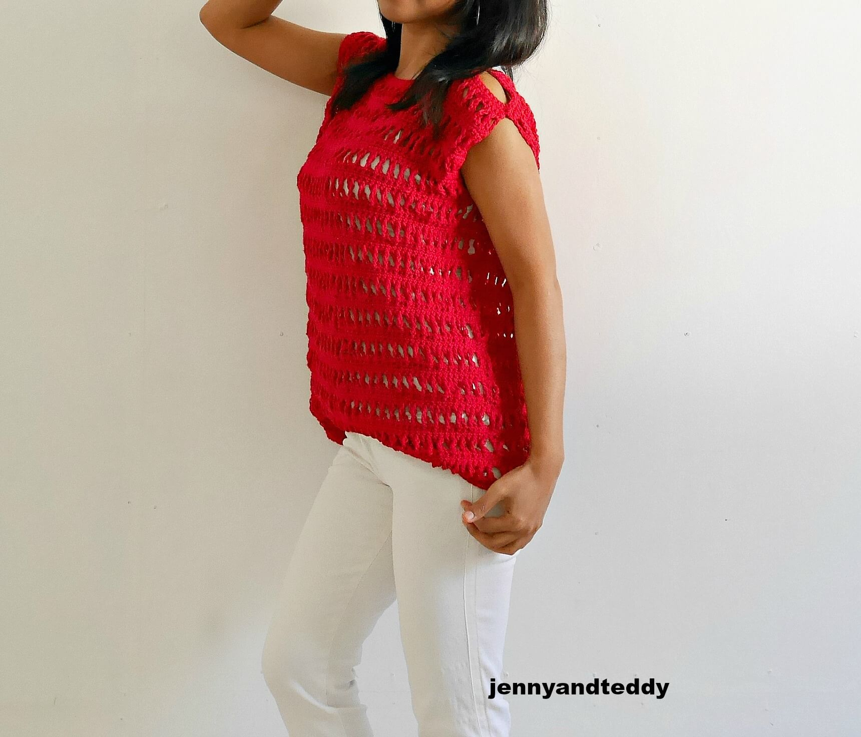 easy crochet summer top free pattern