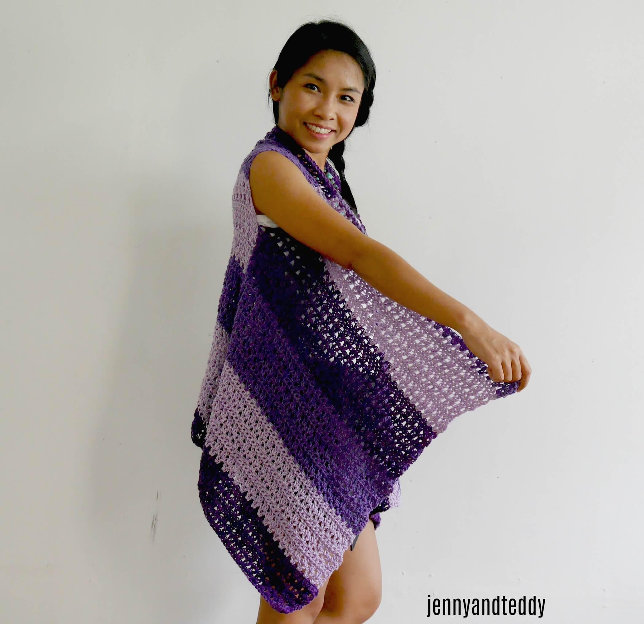 easy crochet vest for spring lion bran mandala or yarn cake arcylic