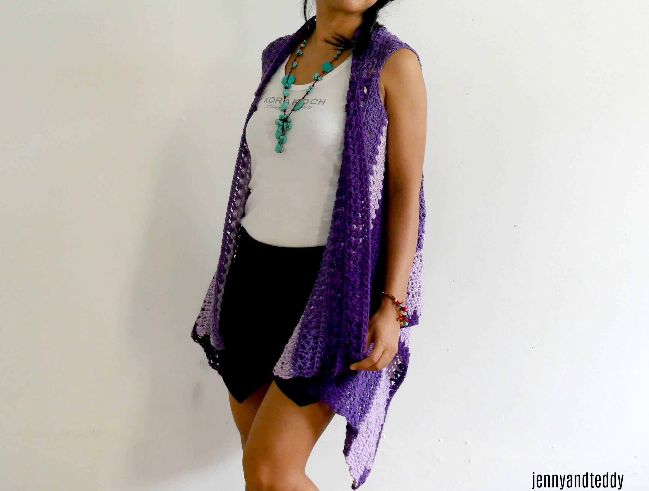 easy crochet vest free patern by jennyandteddy